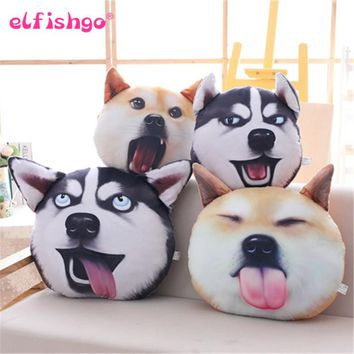 3D Printed Funny Dog Face Emoji Pillow