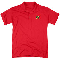 BATMAN/ROBIN EMBLEM POLO - MENS REGULAR FIT POLO - RED - XL