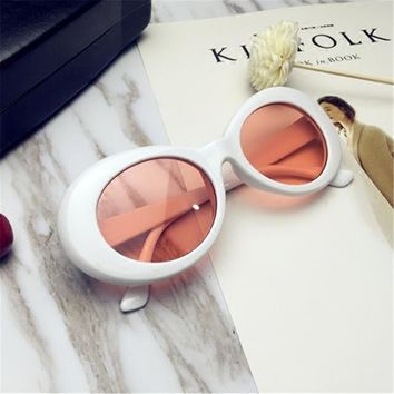 Clout Goggles Kurt Cobain Sunglasses Transparent Clear Lenses Glasses Vintage NIRVANA Oval Eyewear Fashion Classic Sun Glasses