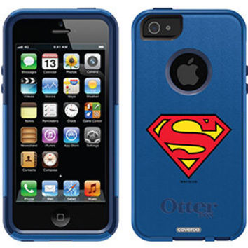 """Superman - Emblem"" Superman design on OtterBox® Commuter Series® Case for iPhone 5 in Nightsky"