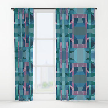 Composition7 Circle Window Curtains by edrawings38