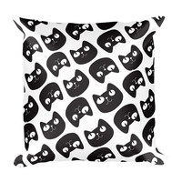 CAT Design Printed Cushion Pillow | 18x18 inches