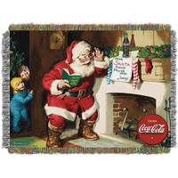 Coca-Cola (Note to Santa) Woven Tapestry Throw (48inx60in)