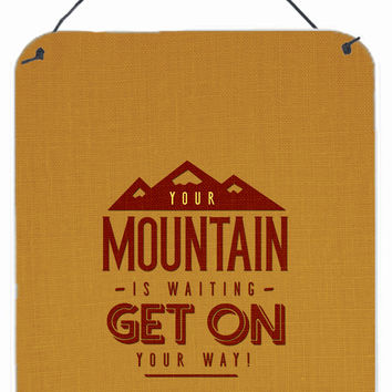 The Mountain is Waiting Wall or Door Hanging Prints BB5451DS1216