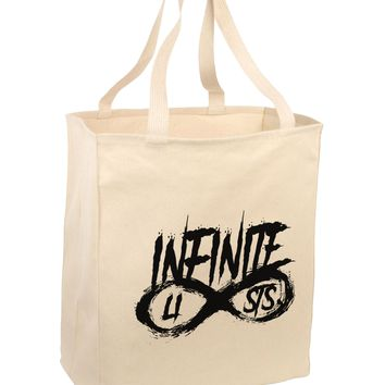 Infinite Lists Large Grocery Tote Bag-Natural by TooLoud