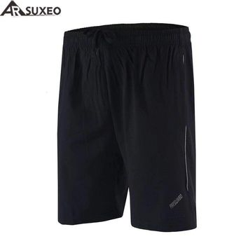 """ARSUXEO 2017 Mens Outdoor Sports 6"""" Running Shorts Training Jogging Soccer Tennis Workout GYM Shorts Quick Dry Pockets B163"""