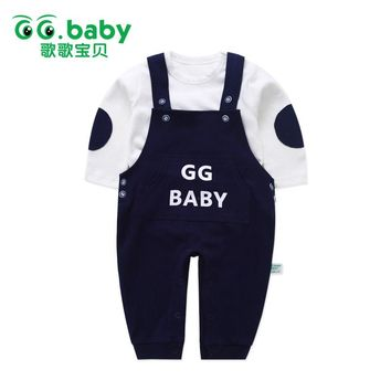 Spring Suspender Pants Baby Overalls For Newborns Infant Baby Boys Set Clothes Baby Girls Outfits Boy Suit Outfit Clothing Sets