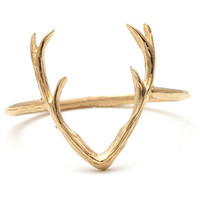 Gold Antler Midi Ring