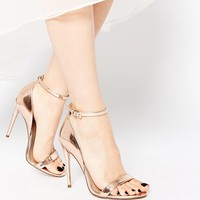 ASOS HONEY Wide Fit Heeled Sandals