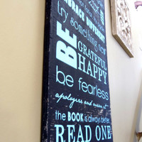 Family Rules Sign Typography Wall Art by 13pumpkins on Etsy