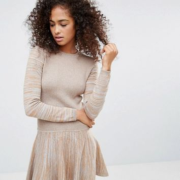 Ganni Harrison Knitted Dropped Hem Dress at asos.com