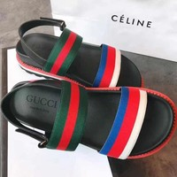 GUCCILadies bees sandals beach shoes-5