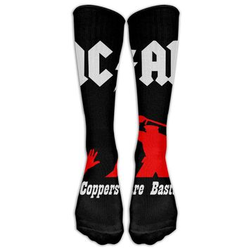 ACAB Novelty Cotton Knee High All-Over Printed Socks
