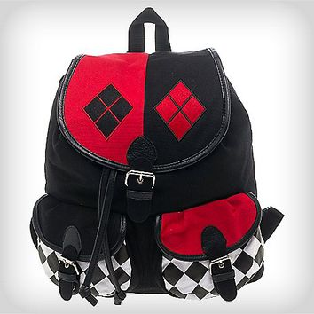 Harley Quinn Checker Mini Knapsack - Spencer's
