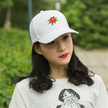 VONG2W 2017 New 100% cotton Casual cap Women cap Embroidery Floral Cap fashion Trucker Adjustable Metal Buckle children Baseball hat