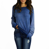 Able USA Ombre Blue Sweater