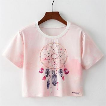 Dream Catcher Cropped T-Shirt