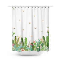 Western Floral Garden Shower Curtain