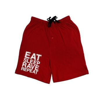 Eat Sleep Rave Repeat Adult Lounge Shorts  by TooLoud