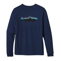 Patagonia Men's Long-Sleeved Fitz Roy Trout Organic Cotton T-Shirt