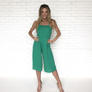 Keep Your Cool Jumpsuit In Green