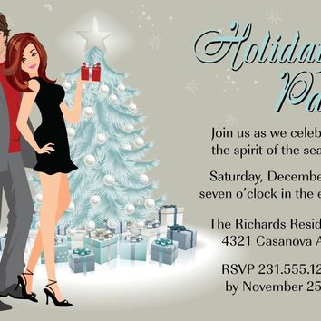Couple Christmas Party Invitation