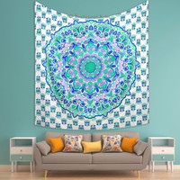 Large indian hippie tapestrys Mandala Tapestry Indian Wall Hanging Bohemian-Hippie Bedspread Throw Decor