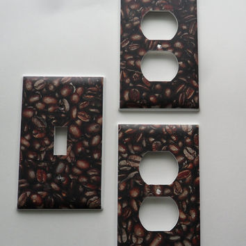 Yummy Coffee Beans Light Switch & Outlet Covers Plates Set Kitchen Decor