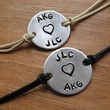 Simply Say It bracelets for Couples set of 2 by GracensDesigns