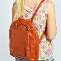 Camilla Cross Strap Back Pack With Front Pocket