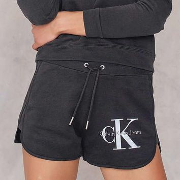 Calvin Klein Jeans Women Cotton Drawstring Sport Shorts