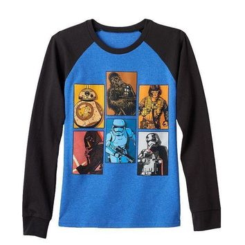 Star Wars: Episode Vii The Force Awakens Boxed Battalion Tee   Boys 8 20 Size: