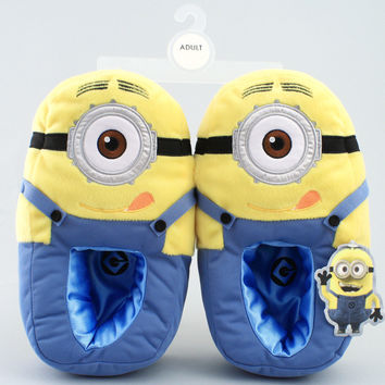Despicable Me Minion Plush Bedroom Slippers Minion Mayhem NEW