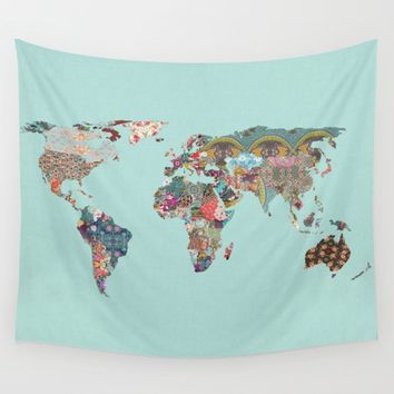 Louis Armstrong Told Us So (teal) Wall Tapestry by Bianca Green | Society6
