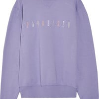 Paradised - Paradised embroidered cotton-jersey sweatshirt