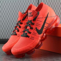 Best Online Sale Nike Air VaporMax Vapor Max 2018 Flyknit Men Red Black Sport Running Shoes 849558-992