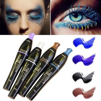 1Pc Silicone Eyelash Brush Color Mascara Volume Lengthening Curling Eye Mascara Black Blue Waterproof Mascara RP1-5