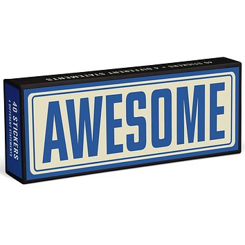 Awesome, Genius, Yay!, Hell Yes Sticker Statements