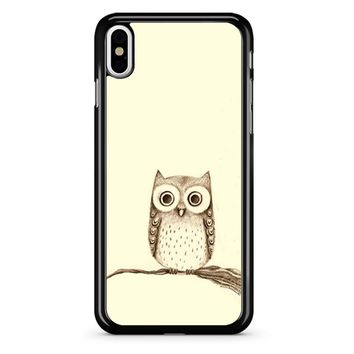 Owl Drawing iPhone X Case