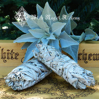 White Sage Smudge Wand . For Cleansing and Clearing the Home of Negativity, Spiritual Cleansing, Banishing, Protection,
