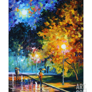 Blue Moon Giclee Print by Leonid Afremov at Art.com