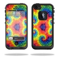 Mightyskins Protective Vinyl Skin Decal Cover for LifeProof iPhone 5 / 5S Case fre Case wrap sticker skins Tie Dye 2