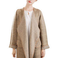 Light Gray Long Sleeve Coat