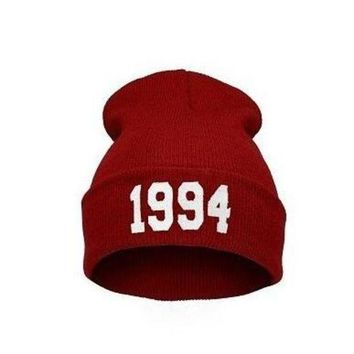 DCCK7HE Perfect 1994 Print Hiphop Women Men Beanies Winter Knit Hat Cap