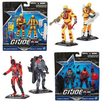 G.I. Joe 50th Anniversary Action Figures 2-Packs Wave 1-Heated Battle - Blowtorch vs. H.E.A.T. Viper
