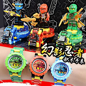 Original box New DOLL Phantom Ninja KAI/JAY/LLOYD Watch Building blocks Toys Bricks gift Compatible with Legoe figures