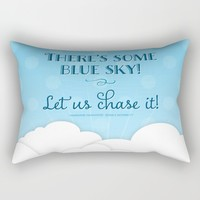 Jane Austen Sense & Sensibility Blue Sky Print Rectangular Pillow by Noonday Design | Society6