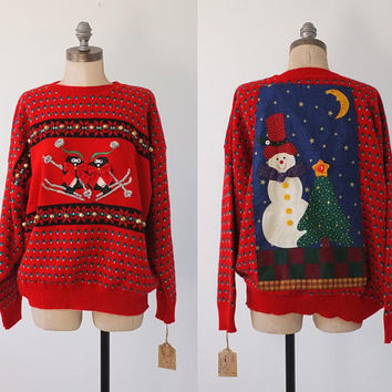 vintage ugly christmas sweater | vintage christmas sweater | xmas sweater | ugly christmas sweater party | medium large
