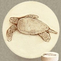 Unique, Sea Turtle Coasters set of 4