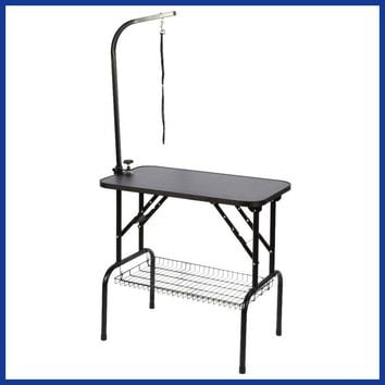 Stainless Steel Dog Grooming Table Folding Pet Grooming Table Professional Beauty Shop Grooming Desk.